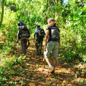 hikers at mountain ELgon Uganda